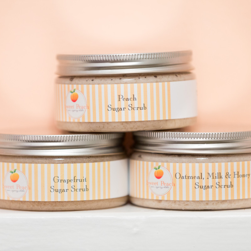 Sweet Peach Wax 8oz Body Scrub